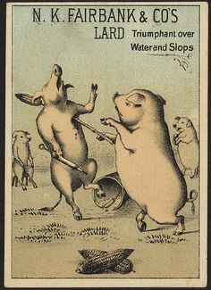 [Have at you, swine!] N. K. Fairbanks & Co's lard triumphant over water and slops [front]