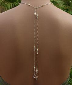Bridal Lariat Necklace with Swarovski Pearls by handmadebydiana, $54.00
