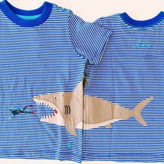 Shark bait ooh ha ha! Shop our new Joules Clothing shark tee available in boy sizes! Call or DM us to order!