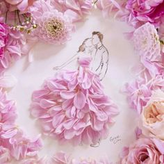 this girl makes fashion designs from flower petals! This inspires me to do more with my pressed flowers. Grace Ciao, Arte Fashion, Floral Fashion, Arte Floral, Flower Petals, Flower Art, Flowers, Vincent Bal, Belle Image Nature
