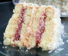 Coconut with Raspberry Filling - A Zinger Cake