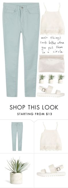 """""""full circle"""" by evangeline-lily ❤ liked on Polyvore featuring Swell, Allstate Floral, Acne Studios, pastel, acne and spring2016"""