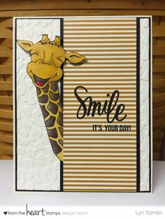 Copics- White Gel Pen (Sentiment) Black (Simon Says Ink) Kids Cards, Baby Cards, Giraffe Pictures, Giraffe Birthday, Get Well Cards, Animal Cards, Cards For Friends, Copics, Happy Birthday Cards
