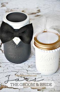 Mason Jar Crafts - Groom & Bride