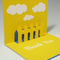 Etsy :: tracychong :: Thank You Pop-Up Card