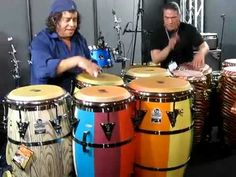 Raul Rekow and Karl Perazzo Perform in the LP Studio - YouTube Salsa Musica, Puerto Rico Pictures, Drummers, Studio Apartment, Acoustic Guitar, Cuba, Musicians, Legends, Music Instruments