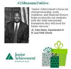 Reason #10: Work readiness, financial literacy and entrepreneurship education are a great starting point for lifelong #success. http://www.fundJA.org/  #25ReasonsToGive #WorkReadiness #FinLit