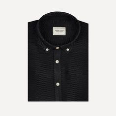 Woven Pin-Dot Shirt in Black | Frank & Oak