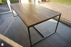 """Stół/biurko gabinetowe """"Industrial Dining"""" - zdjęcie od Projekt Drewno - Gabinet - Styl Industrialny - Projekt Drewno"""