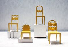 Caricature Chairs, The Simpsons.