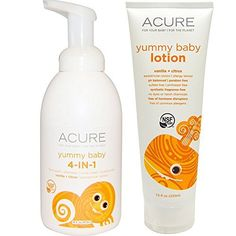 This bundle includes one 16 fl. oz. #Acure #Organics Yummy Baby 4-in-1 Foamer for use as Bubble Bath, Shampoo, Baby Wash and Hand Soap and one 7.5 fl. oz. Acure O...