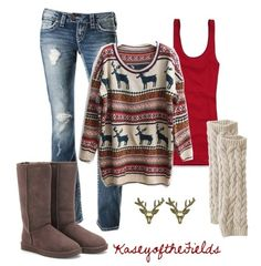 cute casual outfit for holiday time