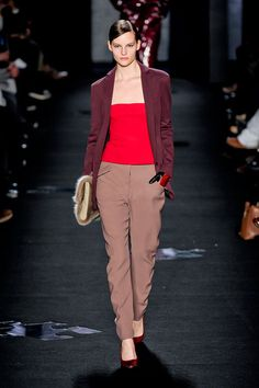The simple bodice prefectly levels off this amazing look from Diane von Furstenberg at New York Fashion Week Fall 2012