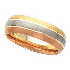 Tri Tone Gold Men S Wedding Band