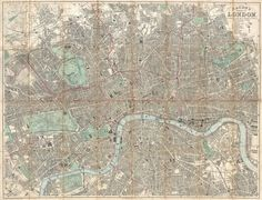 Drawing - Antique Maps - Old Cartographic Maps - Antique Pocket Map Of London, England, 1890 by Studio Grafiikka , Old Maps Of London, London Map, England Map, London England, Vintage Maps, Vintage Wall Art, Antique Maps, Fine Art Photo, Photo Wall Art