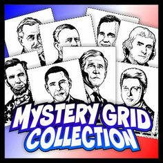 U.S. Presidents Mystery Grid Drawing Puzzles