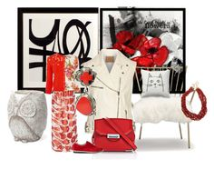 """""""#redandwhite"""" by peeweevaaz ❤ liked on Polyvore featuring Eichholtz, Mitchell Gold + Bob Williams, Blumarine, Alexander Wang, Valentin Magro, women's clothing, women's fashion, women, female and woman"""