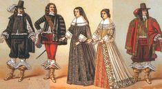 Costumes under the reign of Louis XIII