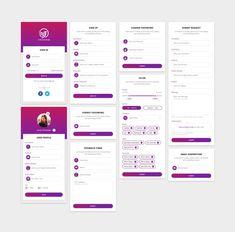 Mobile App Form Designs on Behance Form Design, Layout Design, Design Ios, Game Ui Design, Graphic Design, Interface Design, Android App Design, Android Ui, App Design Inspiration