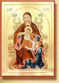 Syriac icon of Our Lady of Throne.