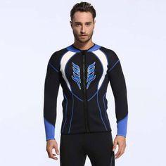 3mm SBR Neoprene Men's Diving Wetsuit Top Warm Waterproof Surfing Snorkeling Suit
