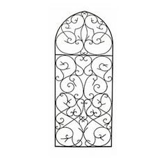 Large Wrought Iron Wall Art diangelo 36 inch wrought iron wall grille set | iron wall