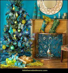 Peacock Themed Home Decor | Peacock theme decorating - peacock theme decor - exoic style ...