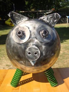 Propane Tank Pig Sculpture
