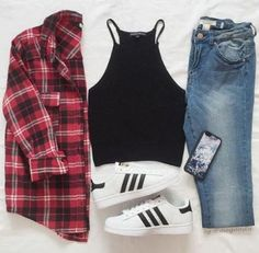 flannel shirt back to school outfit- Back to school outfit ideas http://www.justtrendygirls.com/back-to-school-outfit-ideas/
