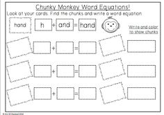 Chunky Monkey Reading Strategy Sheet This sheet is a part of a 119 page pack full of guided reading strategies. Use chunky monkey, lips the fish, eagle eye, floppy dolphin, stretchy snake, tryin' lion and skippy frog to teach different methods of decoding tricky words. Full of activities, games and printables!