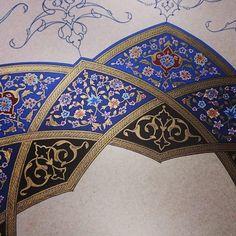 Black and blue illumination Persian Pattern, Persian Motifs, Turkish Design, Turkish Art, Arabic Calligraphy Art, Arabic Art, Gothic Pattern, Pattern Art, Illumination Art