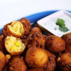 the chew | Recipe  | Michael Symon's Corn Fritters