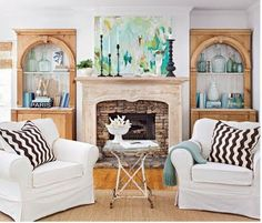 eclectic living room. love the contrast of colors and materials.