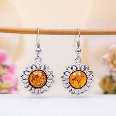 Baltic Amber Hook Earrings