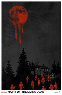 """Toronto's Phantom City Creative, specializing in genre artwork and design, created this poster to commemorate George Romero's classic film """"Night of the Living Dead"""""""