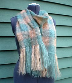 The Etherial Plaid Scarf is a weightless but warm play on traditional plaid patterning. FREE