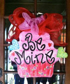 Be mine valentine door hanger