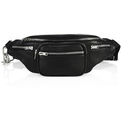 Alexander Wang Attica Leather Fanny Pack (28.040 RUB) ❤ liked on Polyvore featuring bags, fanny pack bags, leather bum bag, belt pocket bag, leather waist bag and waist bags
