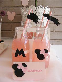 Drinks from a Minnie Mouse Birthday Party via Kara's Party Ideas | KarasPartyIdeas.com (6)