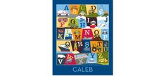 Personalized Transportation Alphabet Poster  On The by PetiteLemon, $24.95