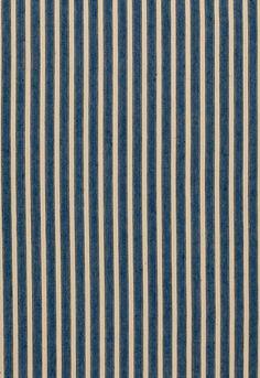 My Fabric Connection - Schumacher Fabric Antique Ticking Stripe Denim 3475004…