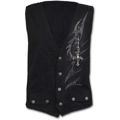 Mens SHADOW MASTER Gothic Waistcoat Four Button with Lining Shop Online From Spiral Direct, Gothic Clothing, UK