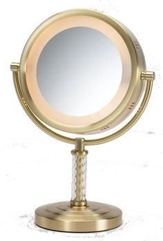Dual Sided Halo Lighted Vanity Mirror