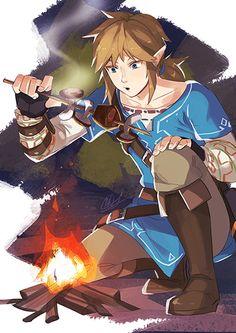 Legend of Zelda: Breath of the Wild print for SMASH 2016 :D