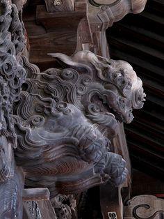 Komainu Dragon Statue, Dragon Art, Korean Art, Asian Art, Vanitas, Asian Sculptures, Traditional Sculptures, Fu Dog, Asian Architecture