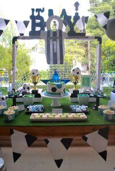 centros de mesa de futbol para niños
