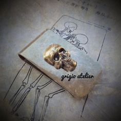 NEW  Custo Money Clip   Antique Gold Skull by blackpersimmons, $20.00