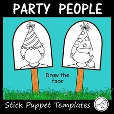 10 boy/girl templates to make stick puppets. (5 boys and 5 girls). Students decide what sort of emotion they would like their person to have and draw the face accordingly (eg happy, excited, sad, surprised, angry ...) If desired, your students could draw a different emotion on two of the templates (same person) and then stick them back to back with the craft stick in between.