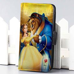 $22 ws dancing princess bell and the beast disney beauty and the beast wallet case for iphone 4,4s,5,5s,5c,6 and samsung galaxy s3,s4,s5 - LSNCONECALL.COM