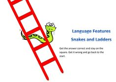 GCSE English Language - Language Features Snakes and Ladders